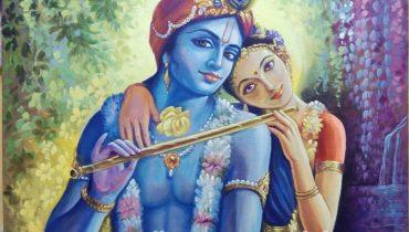 Original Radha krishna oil paintings online sale