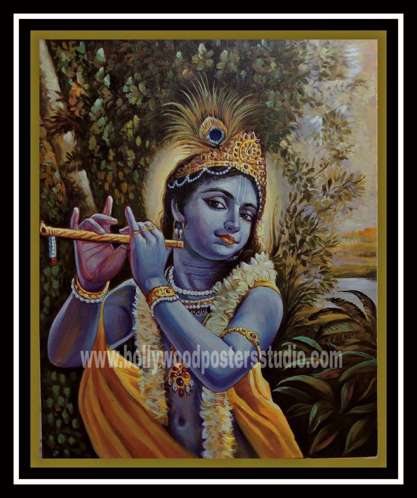 Original oil on canvas paintings   krishna   Custom Bollywood ...