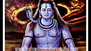 Original oil painting at best price sale – Mahadev shiva