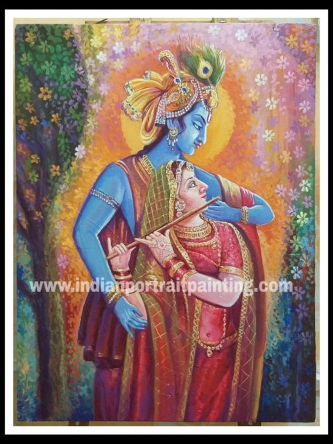 oil paintings of lord krishna for sale