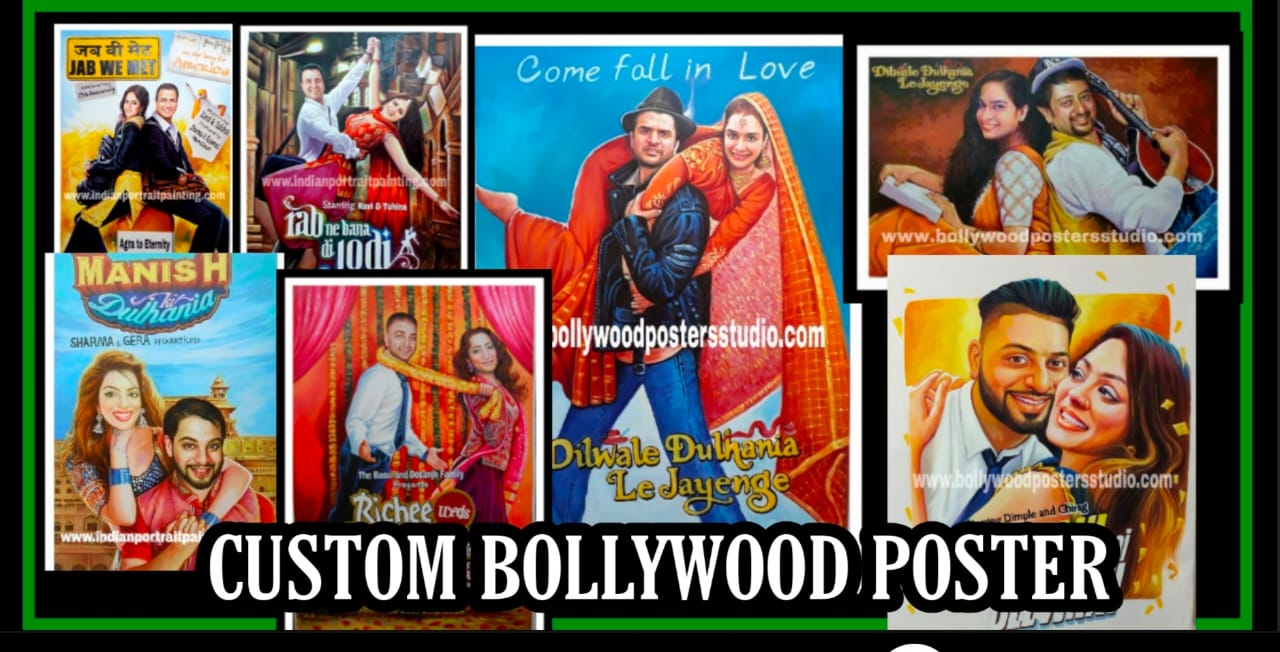 custom bollywood poster