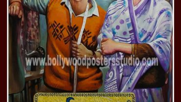 Hand painted bollywood movie poster artist