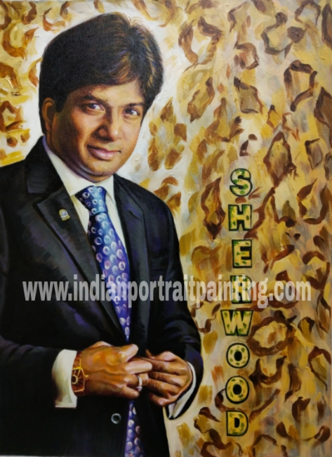 Artist for making real oil portrait on canvas
