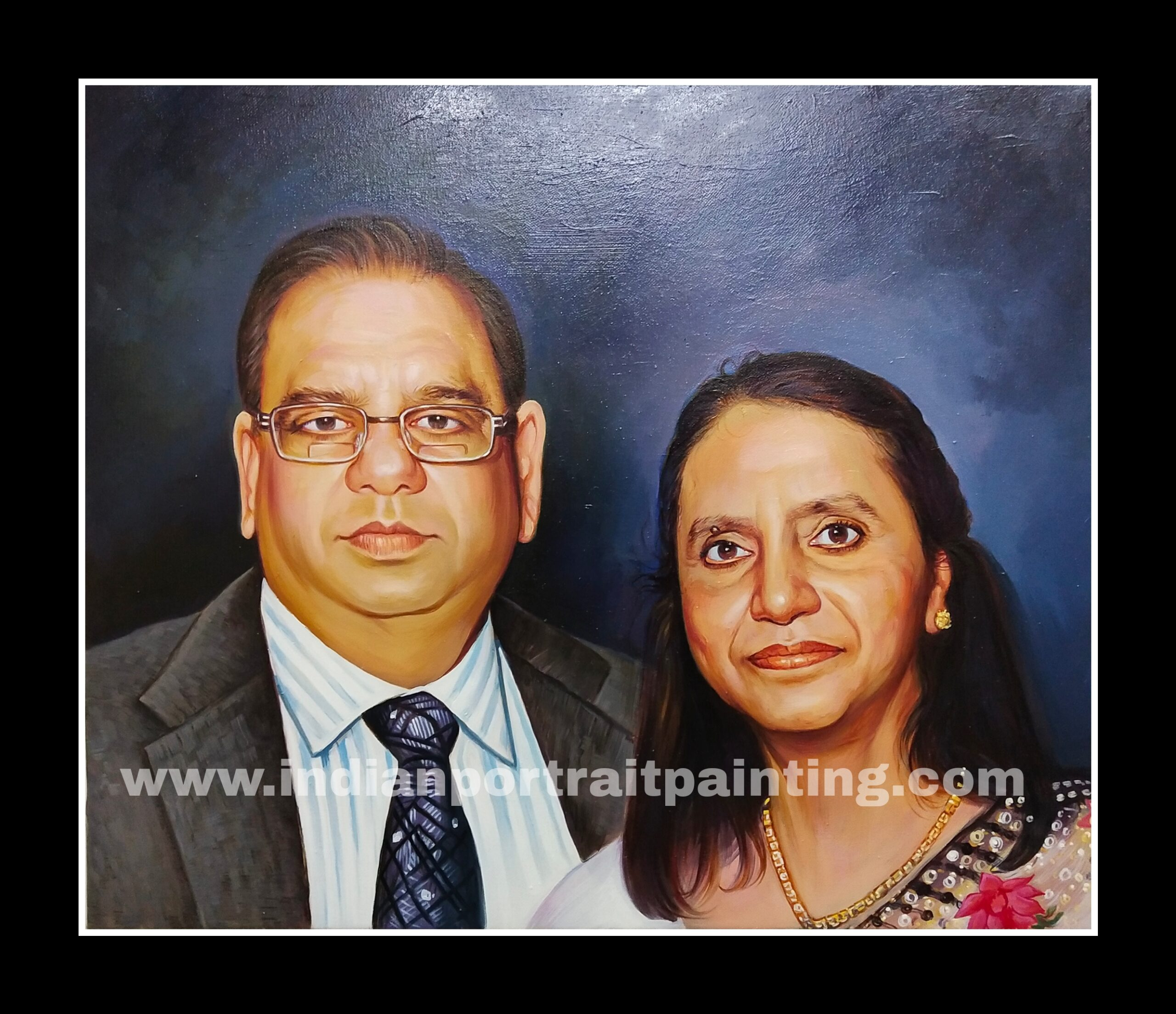 Custom made real portrait painting