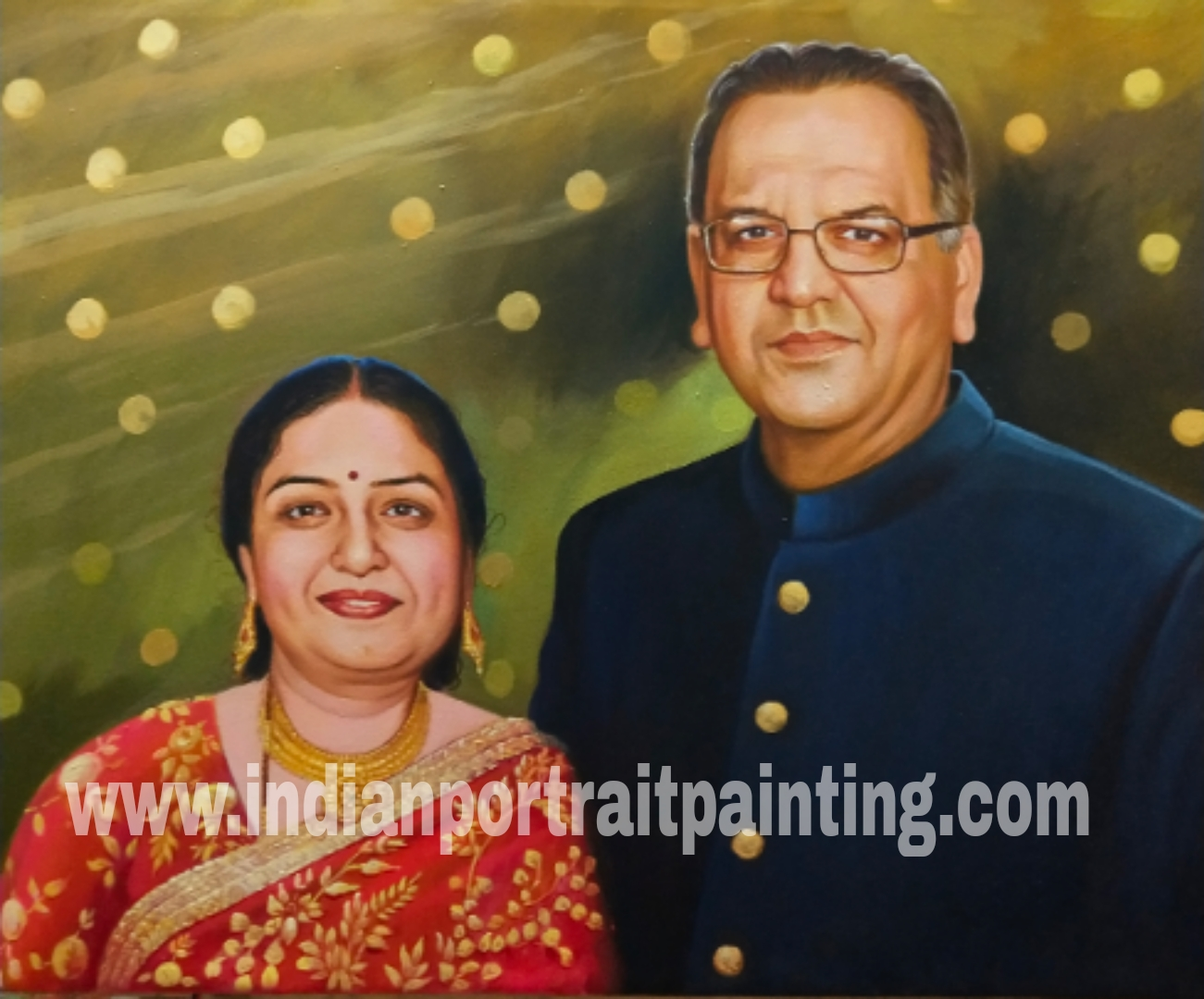Personalized made real portrait painting
