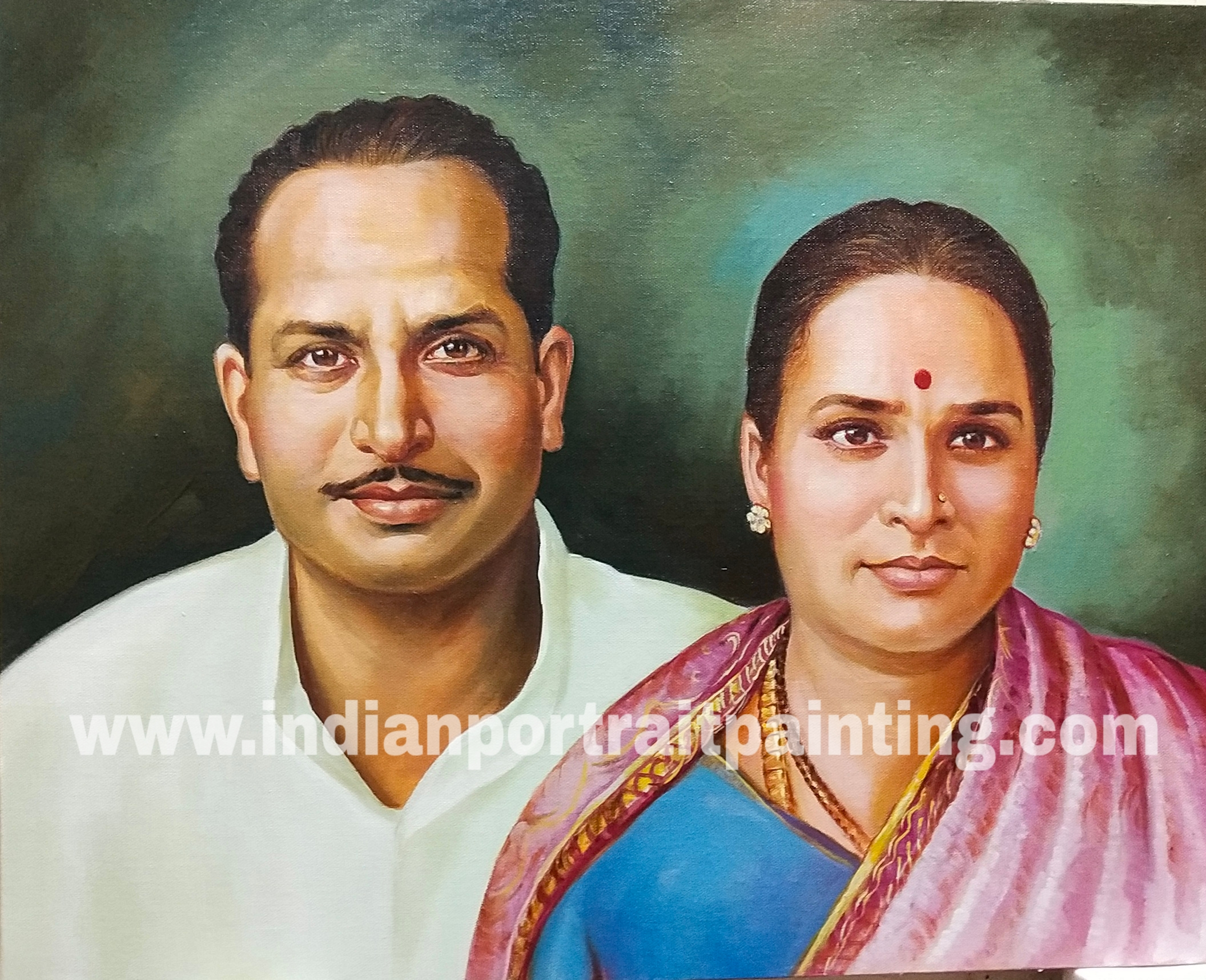 Real artist for portrait painting