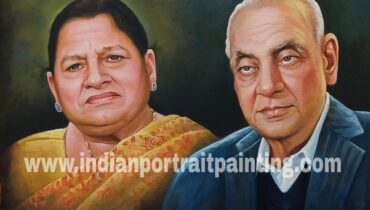 Real hand painted canvas portrait