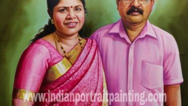 Real hand painted portrait