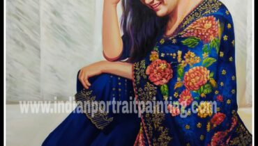 Real portrait painting for gift