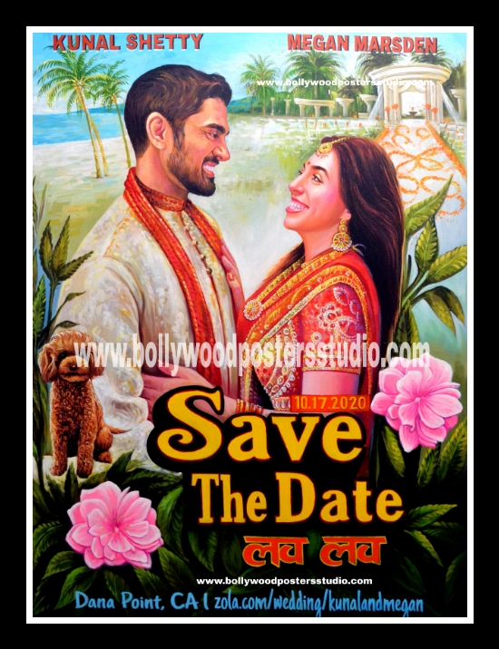 Save the date posters custom made